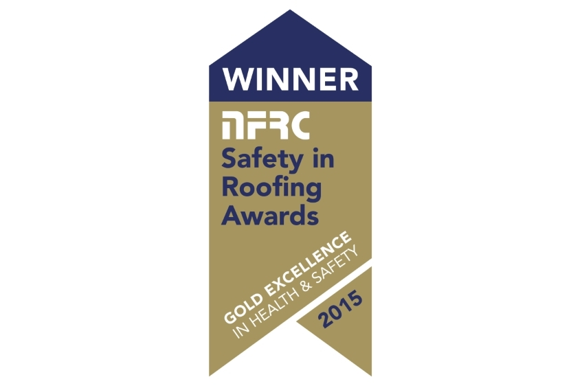 NFRC Gold Safety in Roofing Award 2015