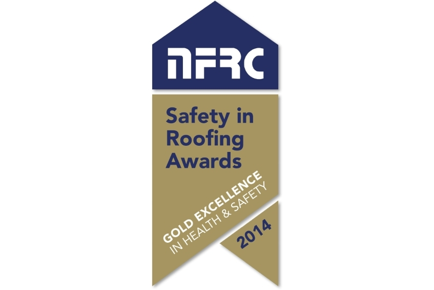 NFRC Gold Safety in Roofing Award for 2014